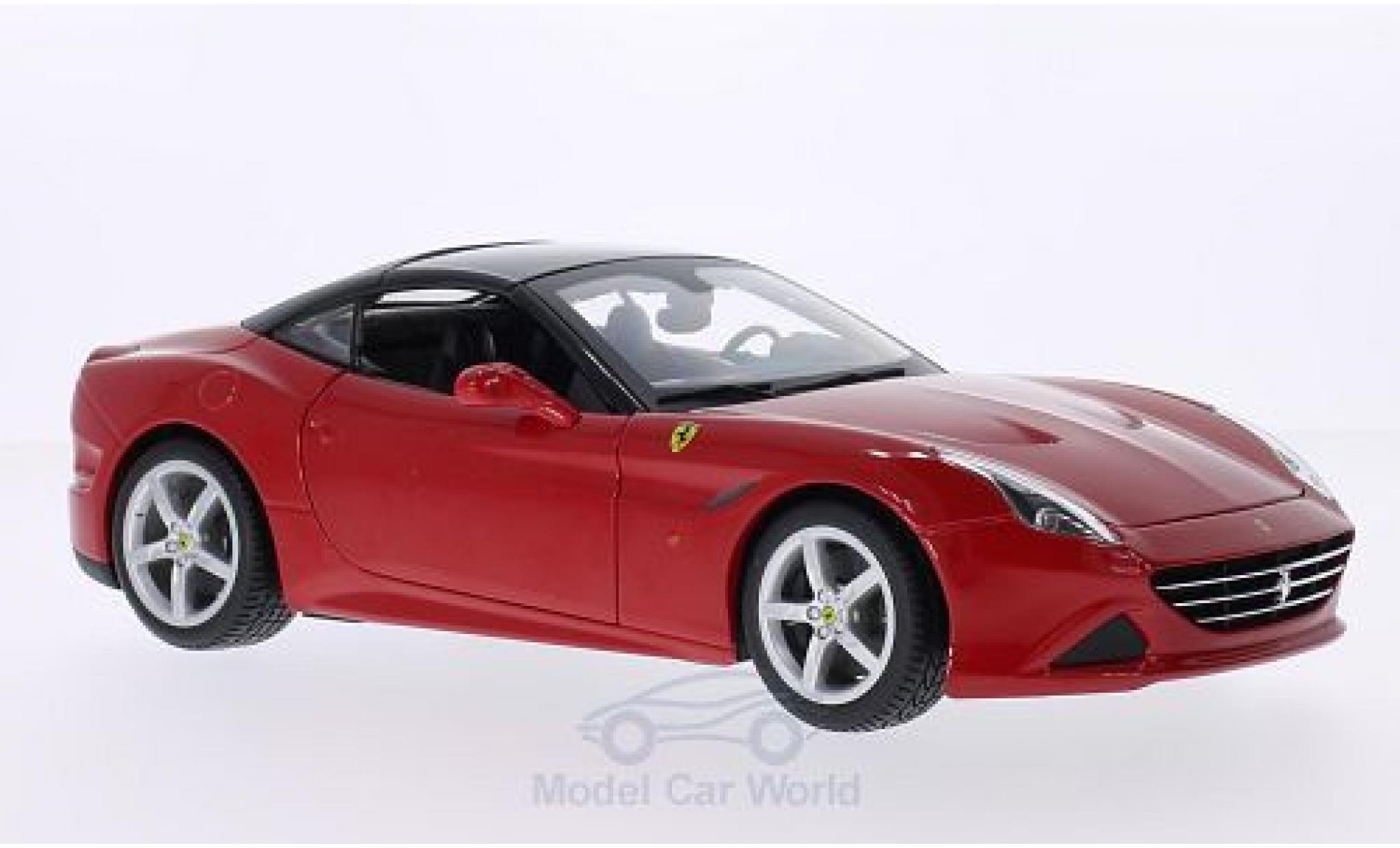 Ferrari California 1/18 Bburago T rot/schwarz 2014 Verdeck geschlossen