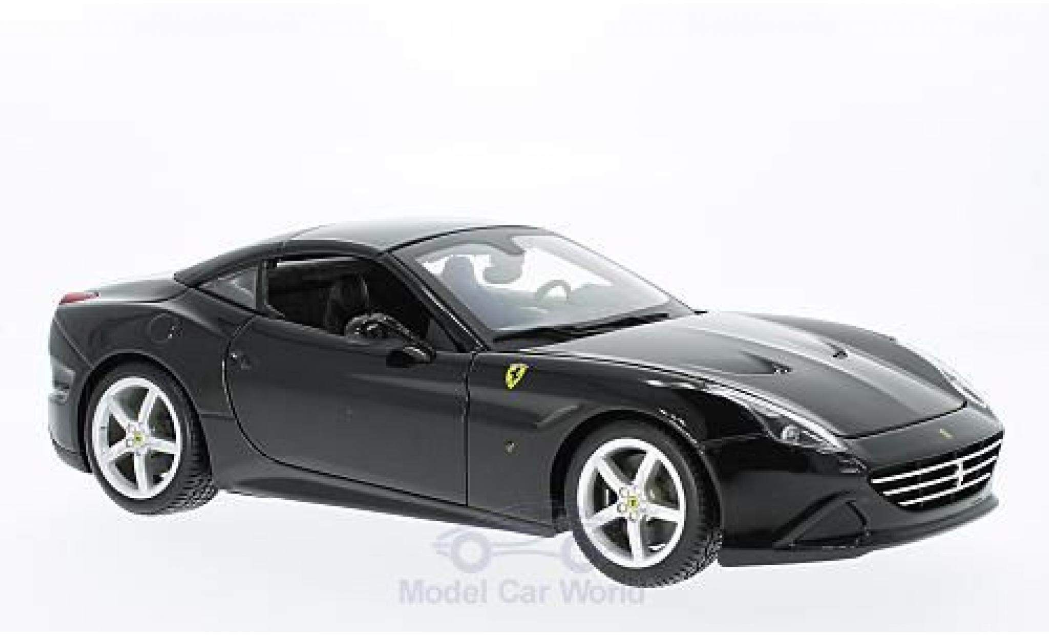 Ferrari California 1/18 Bburago T noire 2014 geschlossen ohne Vitrine