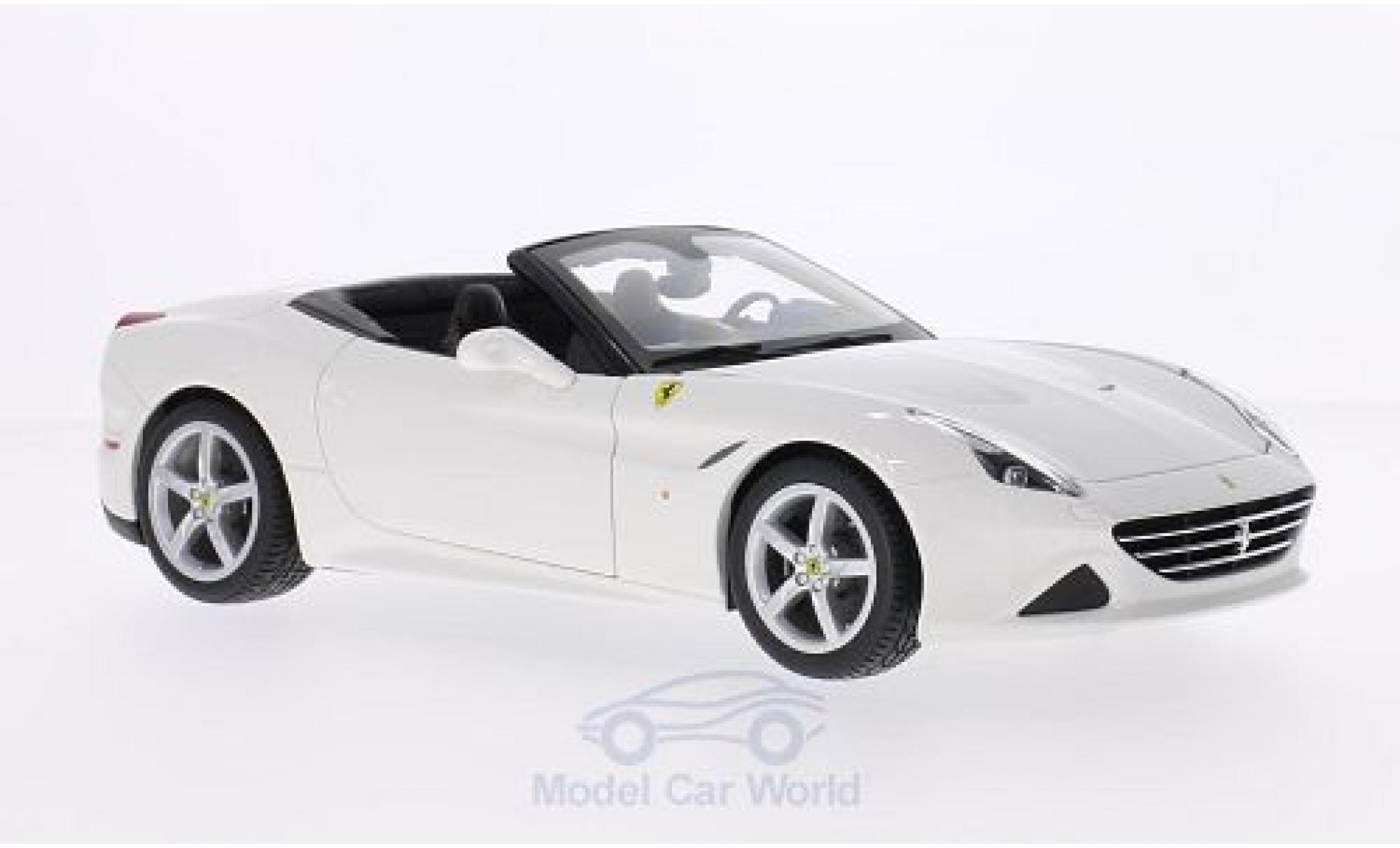 Ferrari California 1/18 Bburago T blanche 2014 offen ohne Vitrine