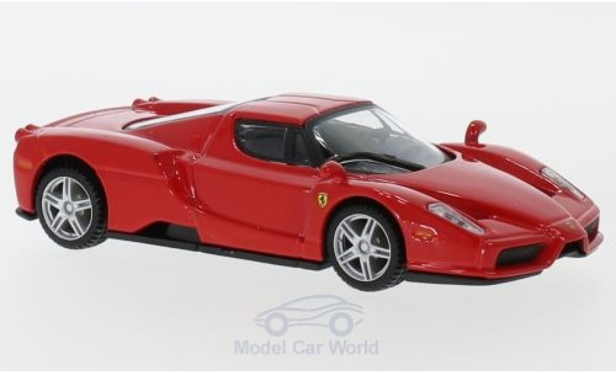 Ferrari Enzo 1/43 Bburago rouge/blanche pull-back