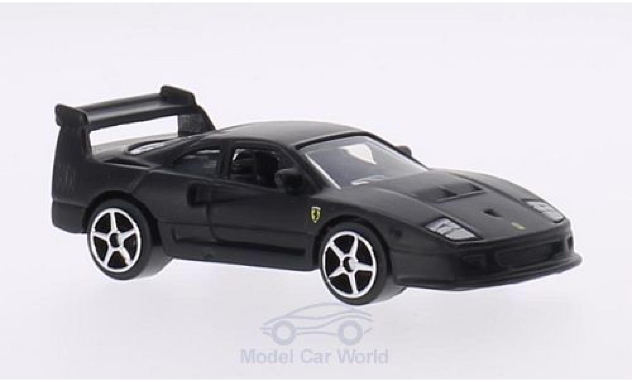 Ferrari F40 1/64 Bburago Competizione matt-noire