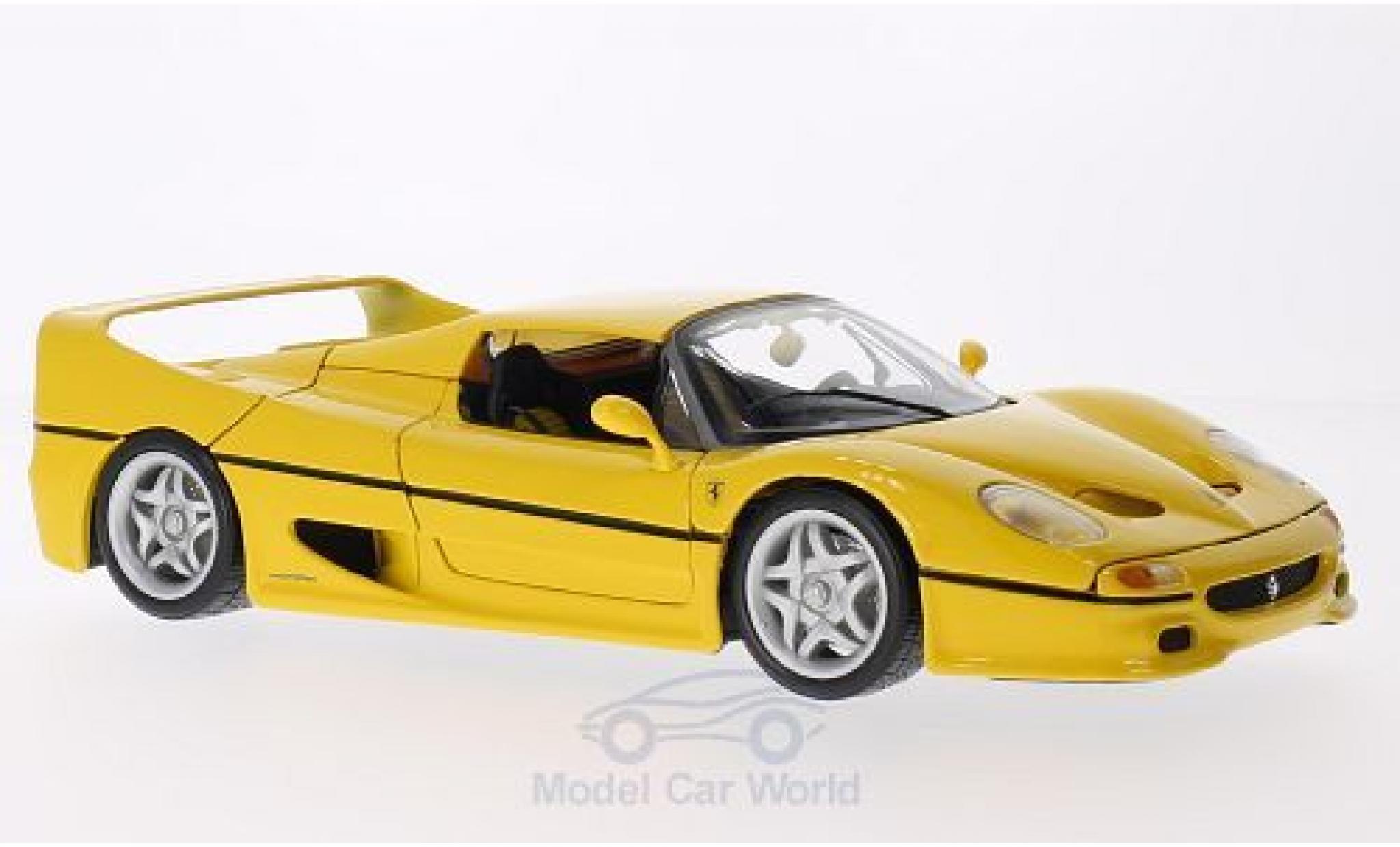 Ferrari F50 1/18 Bburago jaune ohne Vitrine