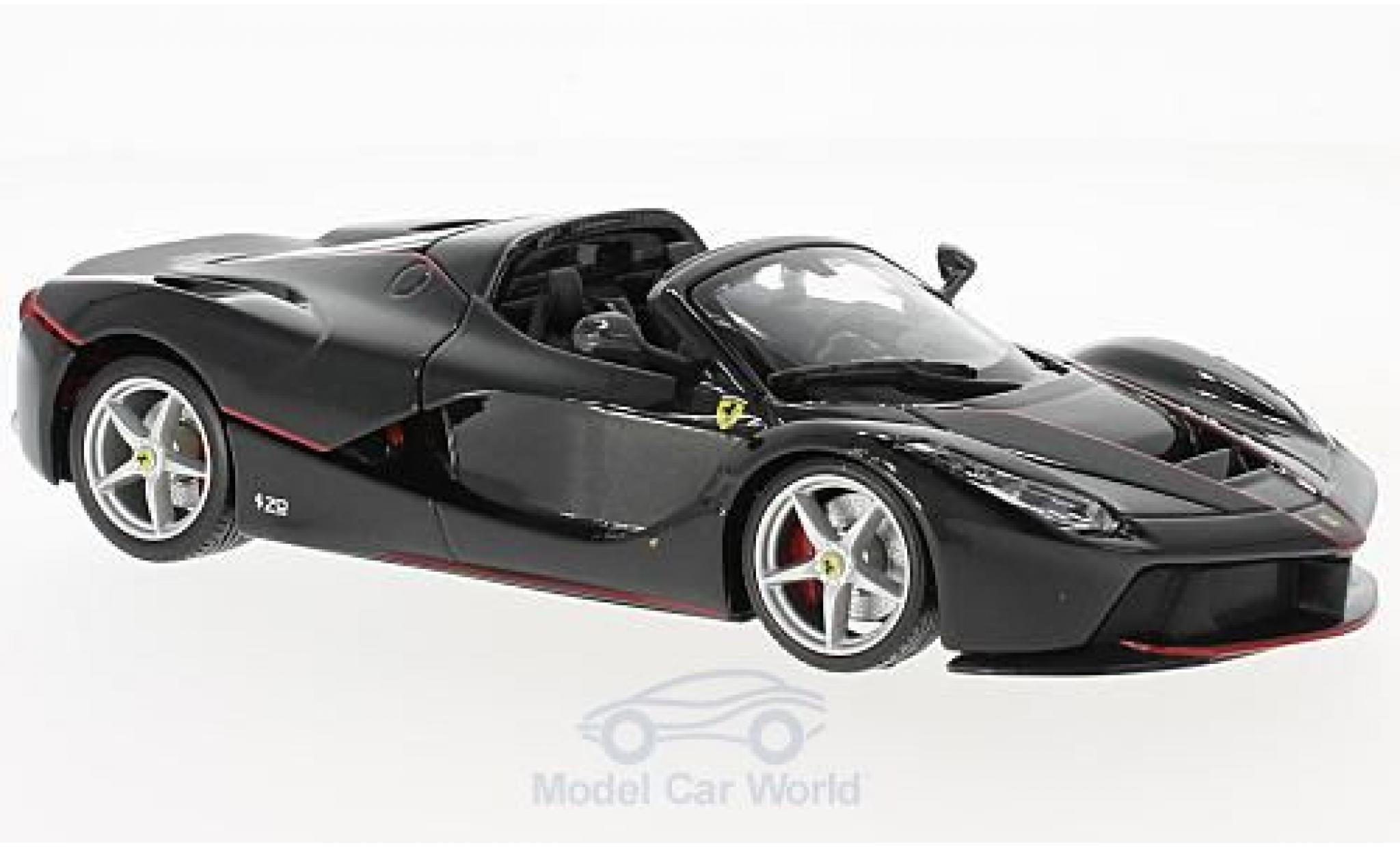 Ferrari LaFerrari 1/24 Bburago La Aperta metallise noire