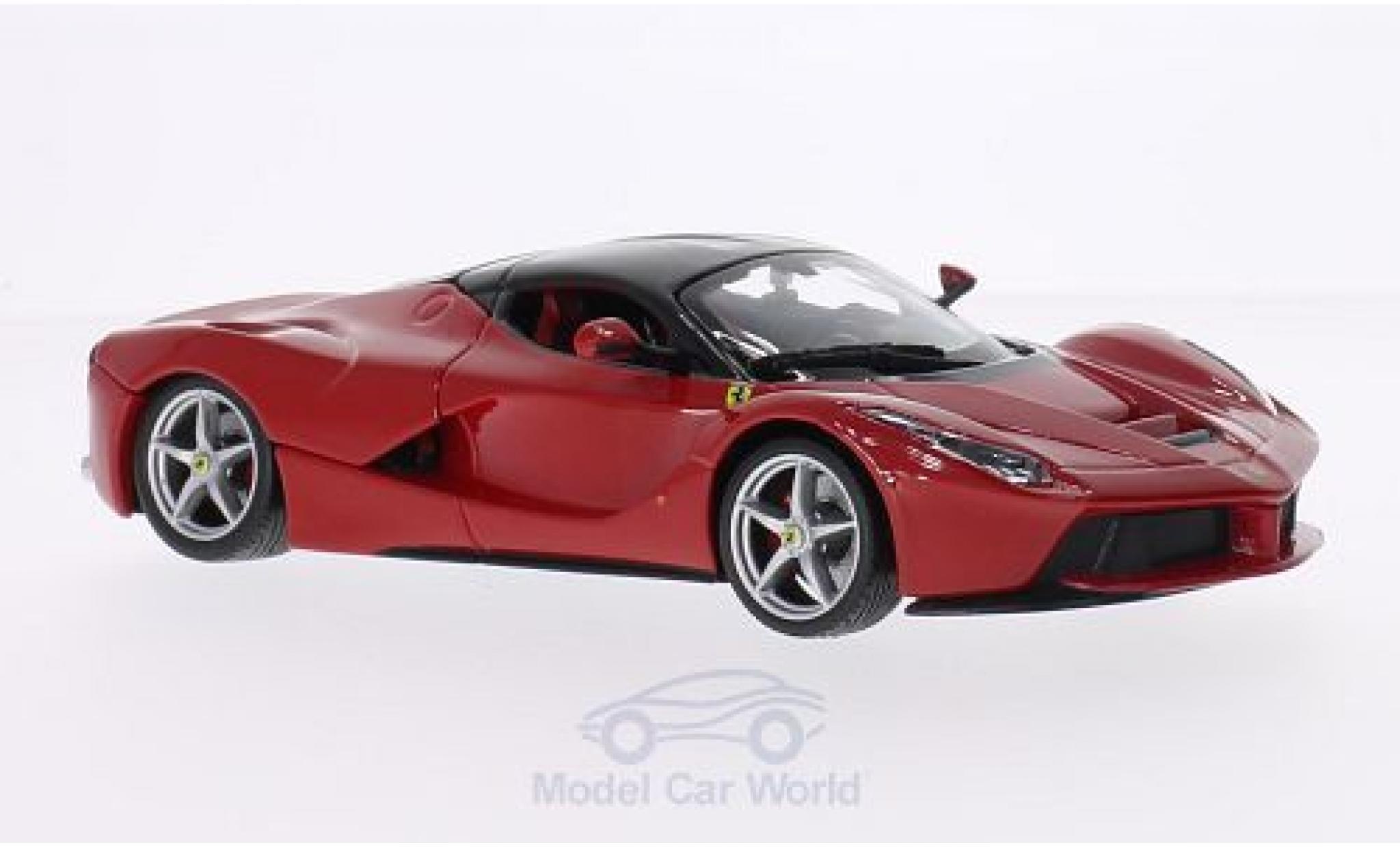 Ferrari LaFerrari 1/24 Bburago La rouge/noire ohne Vitrine