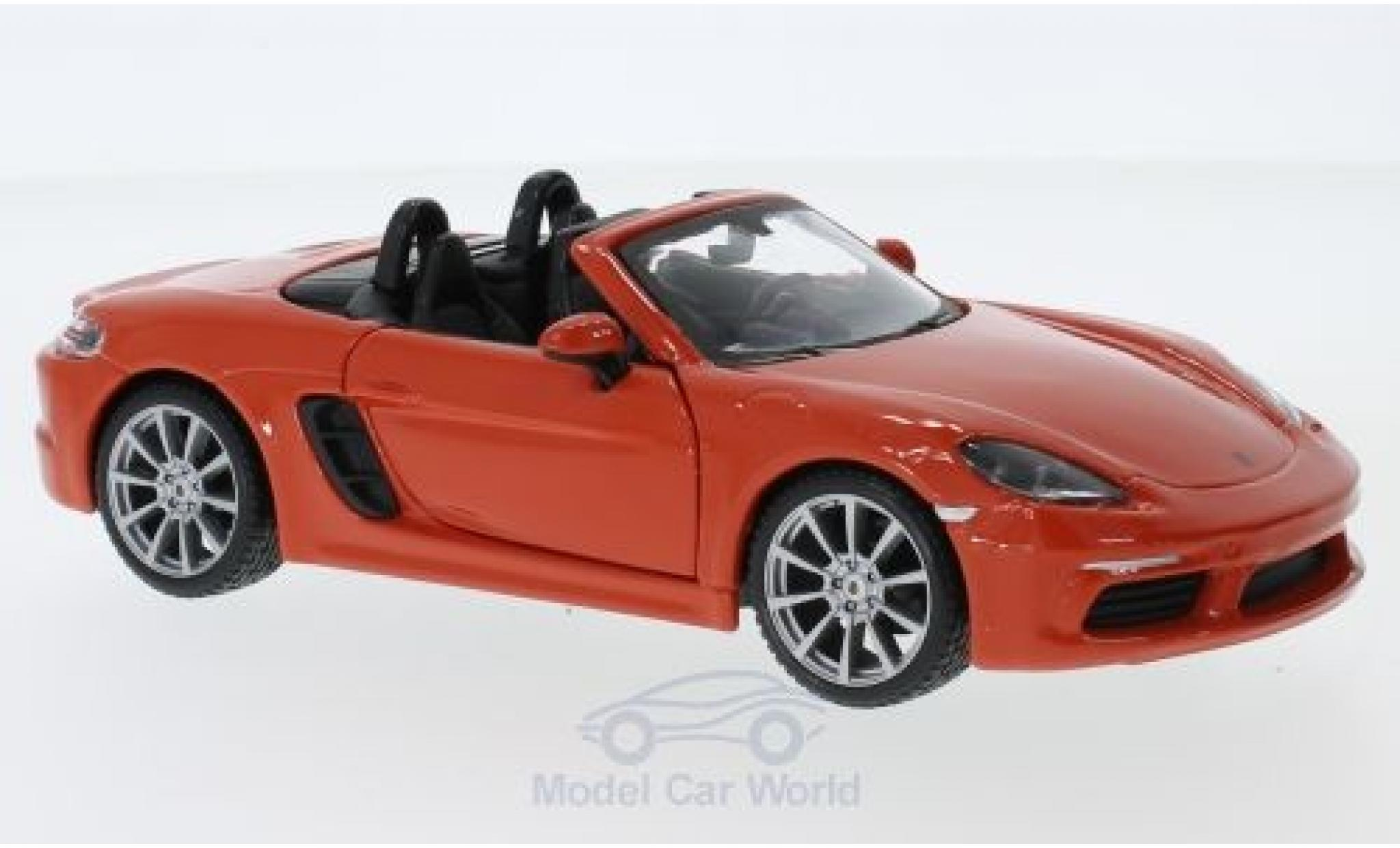 Porsche Boxster 1/24 Bburago 718 orange