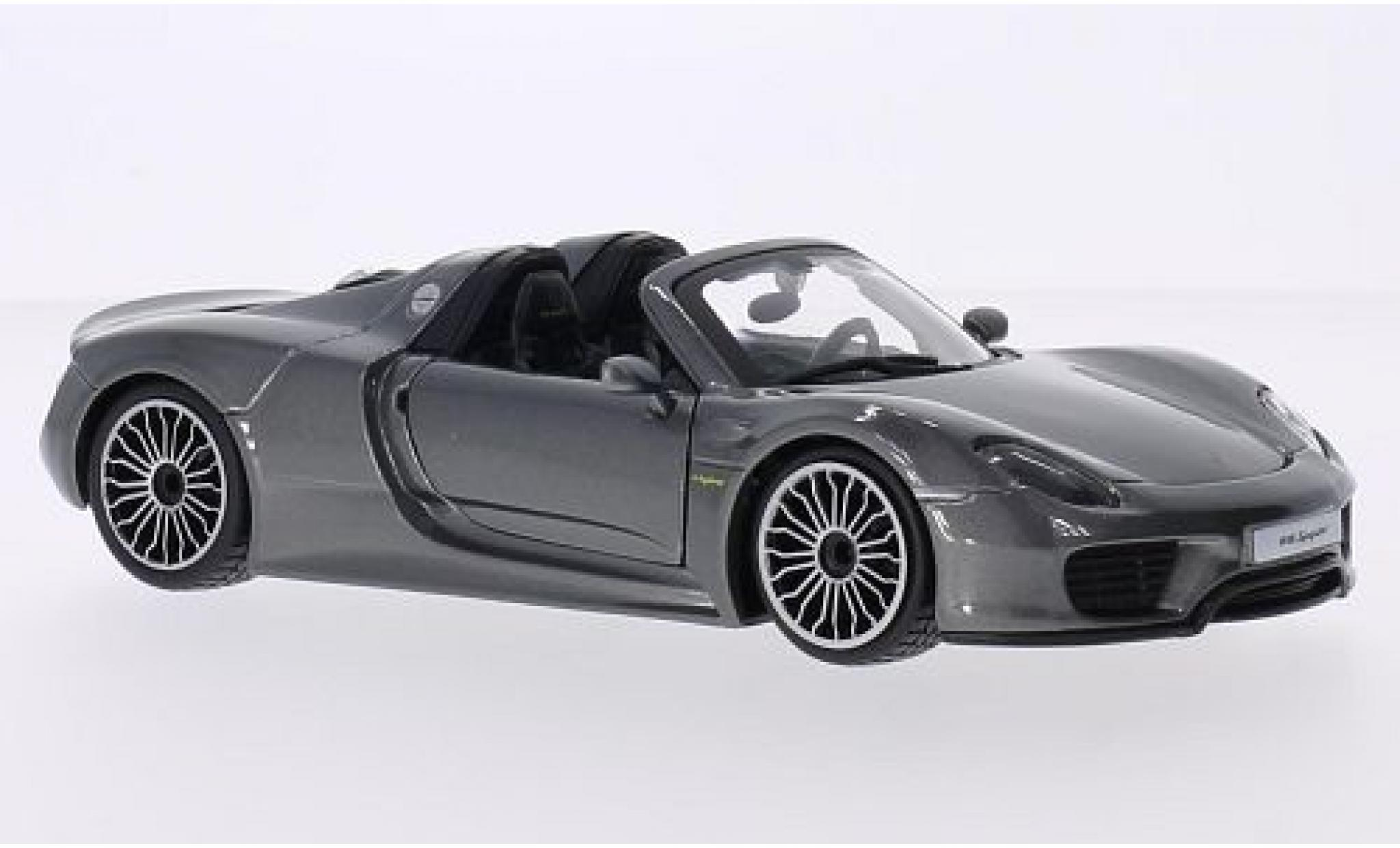 Porsche 918 1/24 Bburago Spyder metallise grise