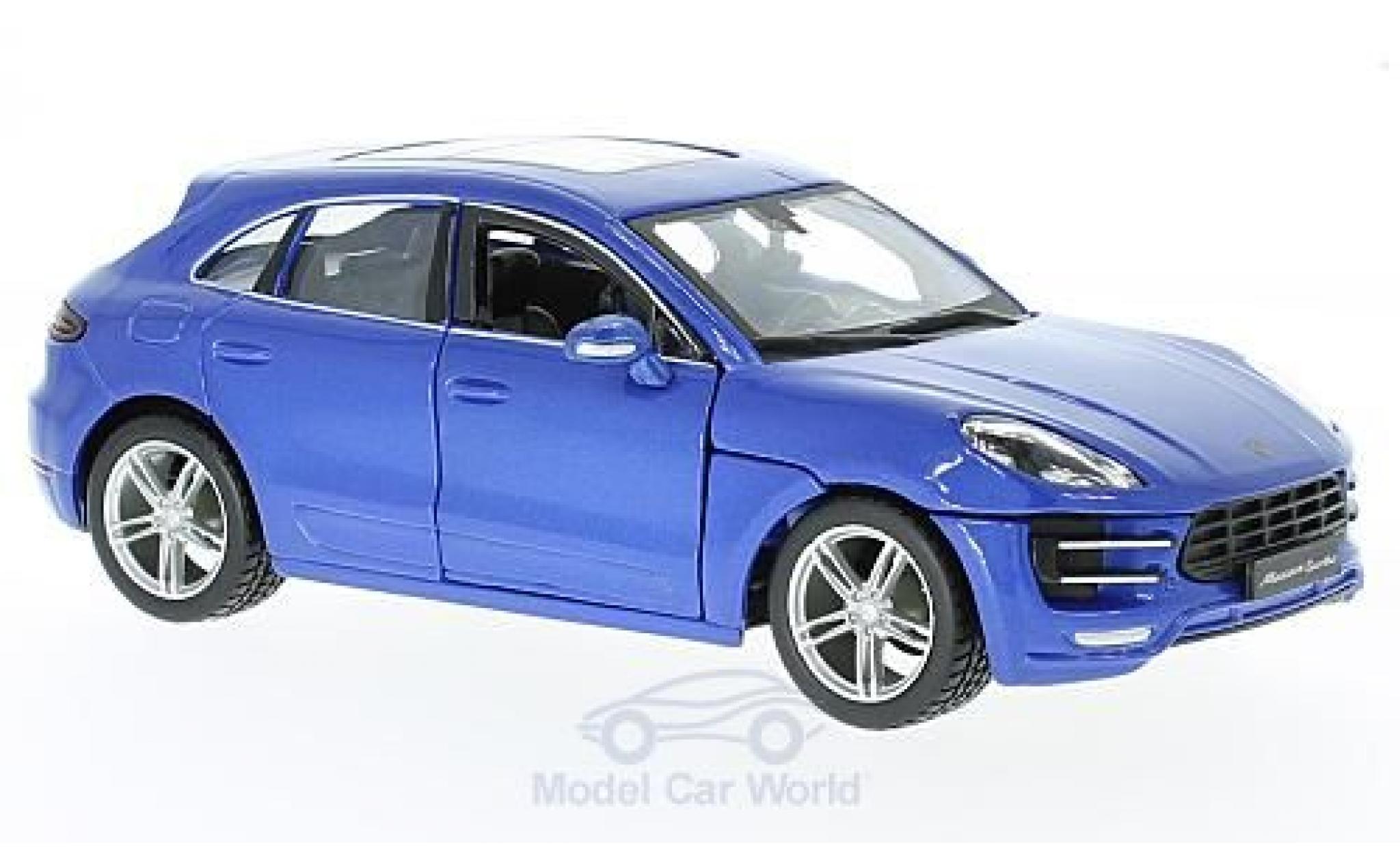 Porsche Macan 1/24 Bburago metallise bleue