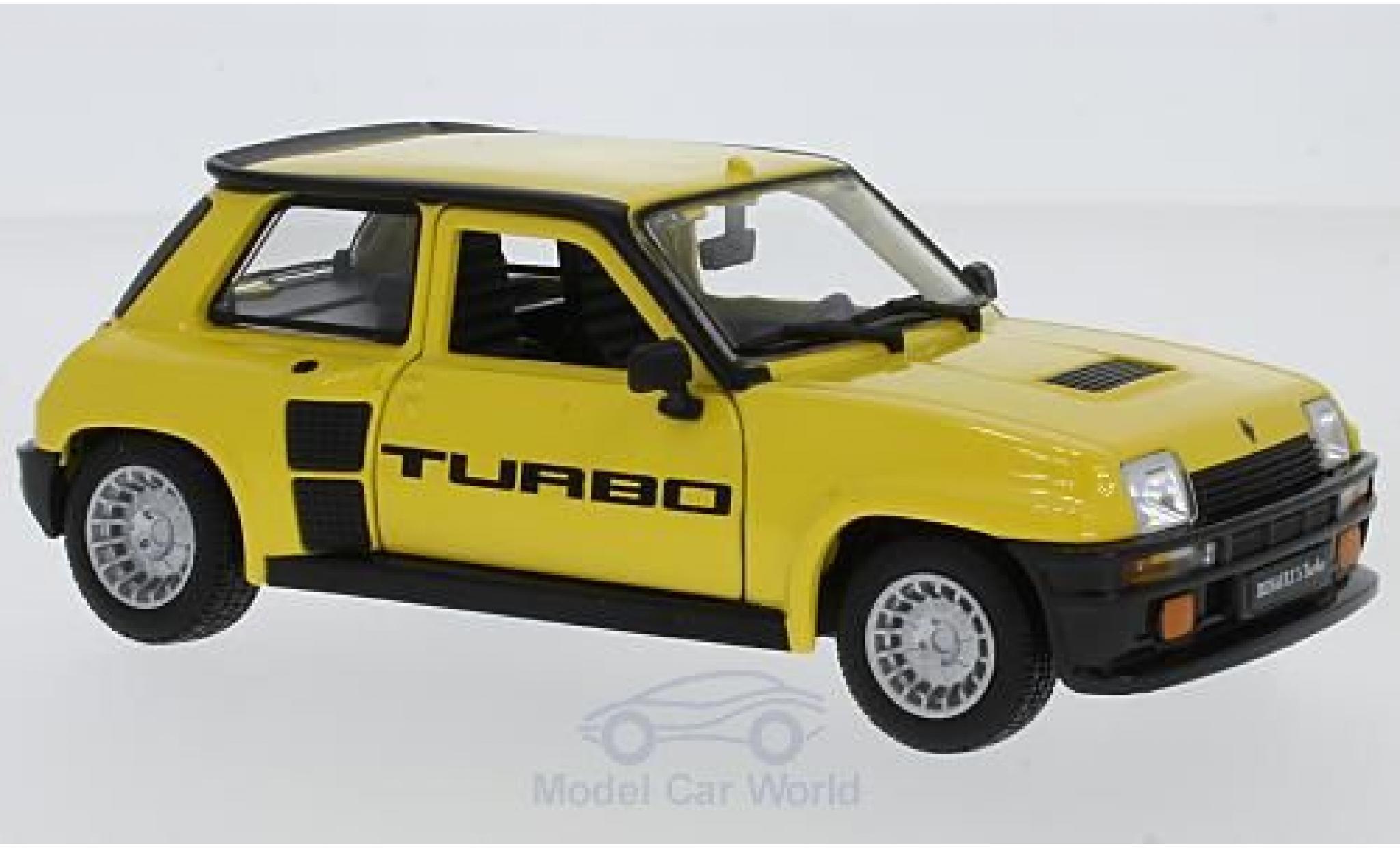 Renault 5 Turbo 1/24 Bburago Turbo amarillo 1982