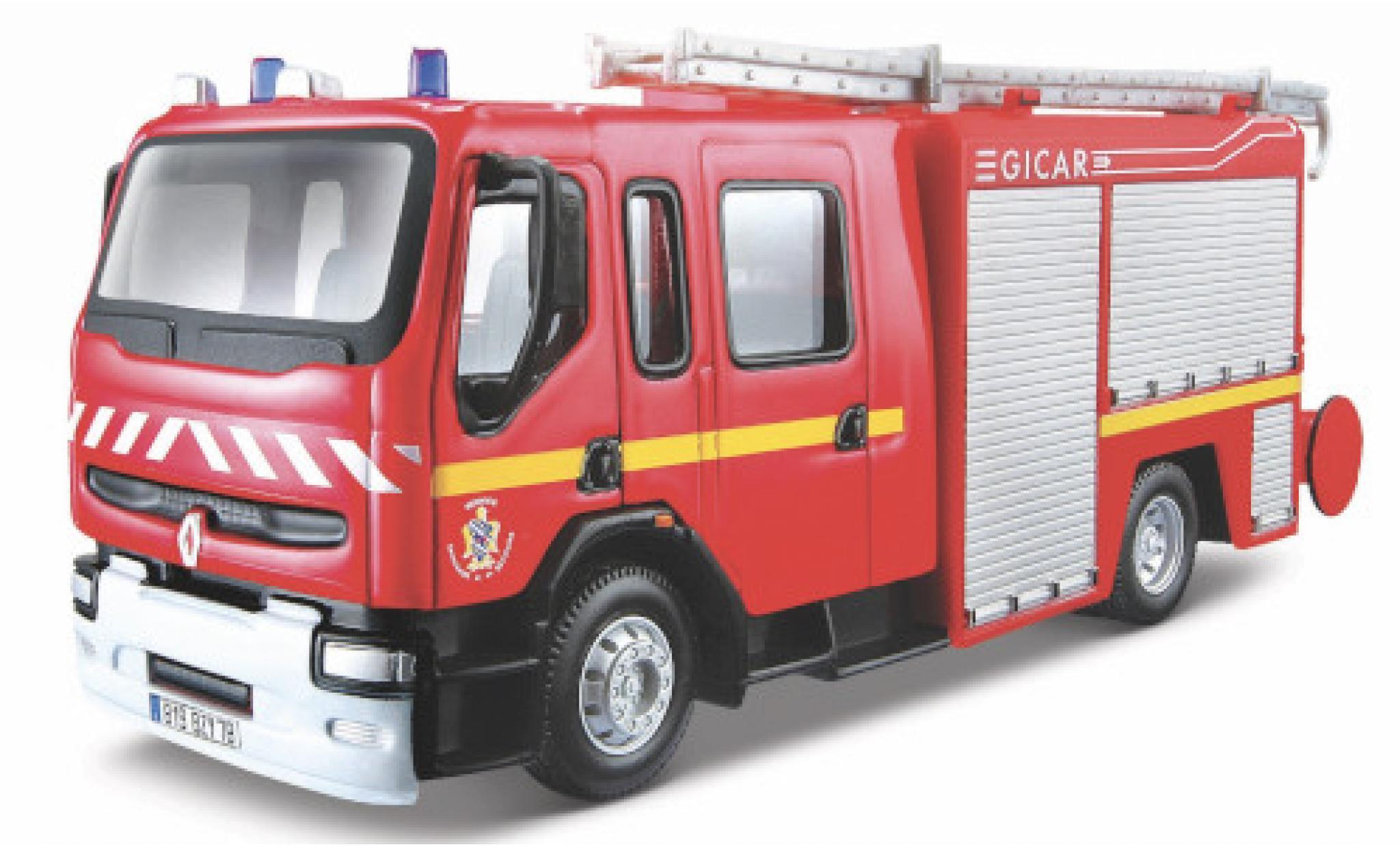 Renault Premium 1/50 Bburago Service Departemental Incendie (F)