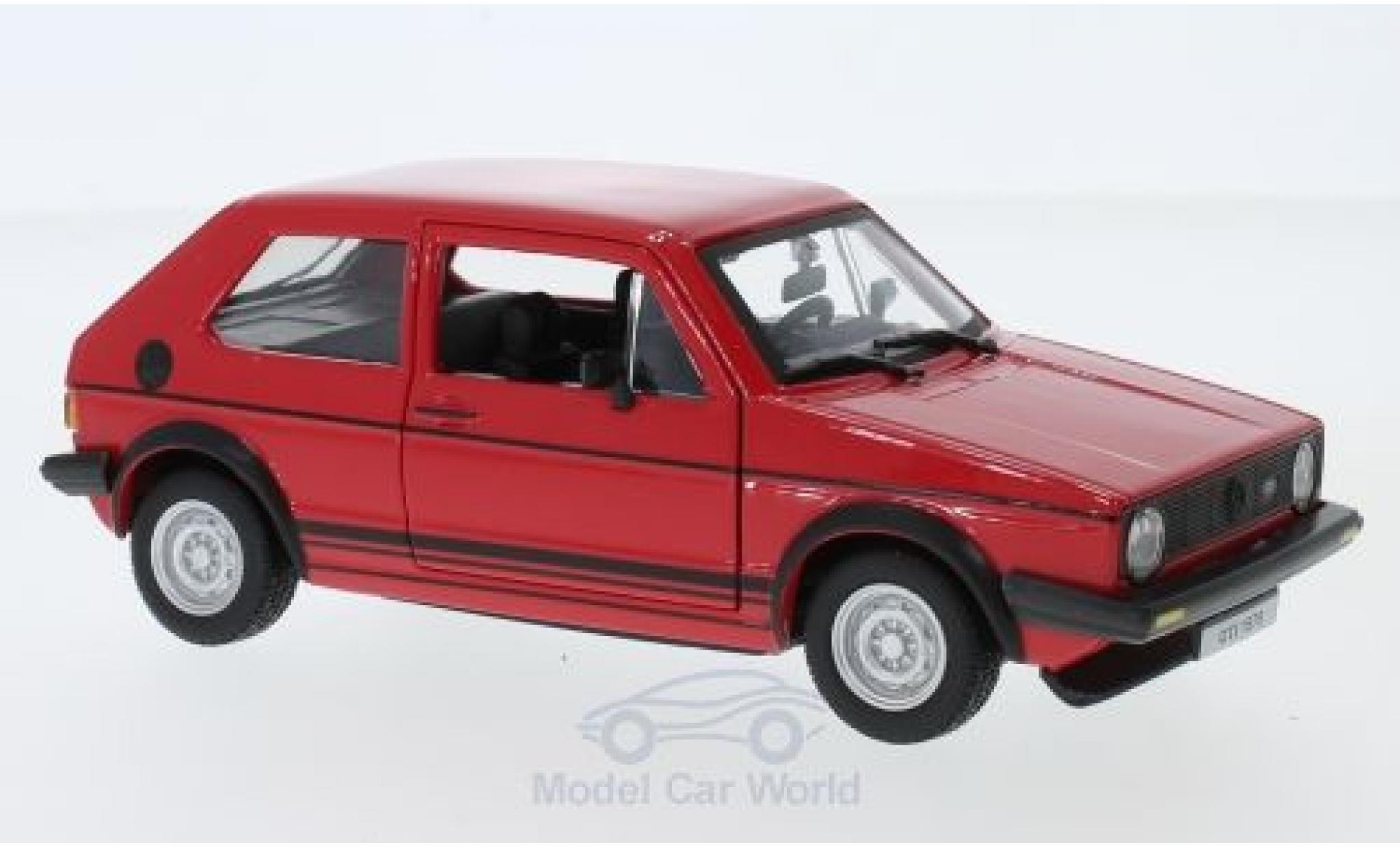 Volkswagen Golf V 1/24 Bburago MKI GTI rouge 1979