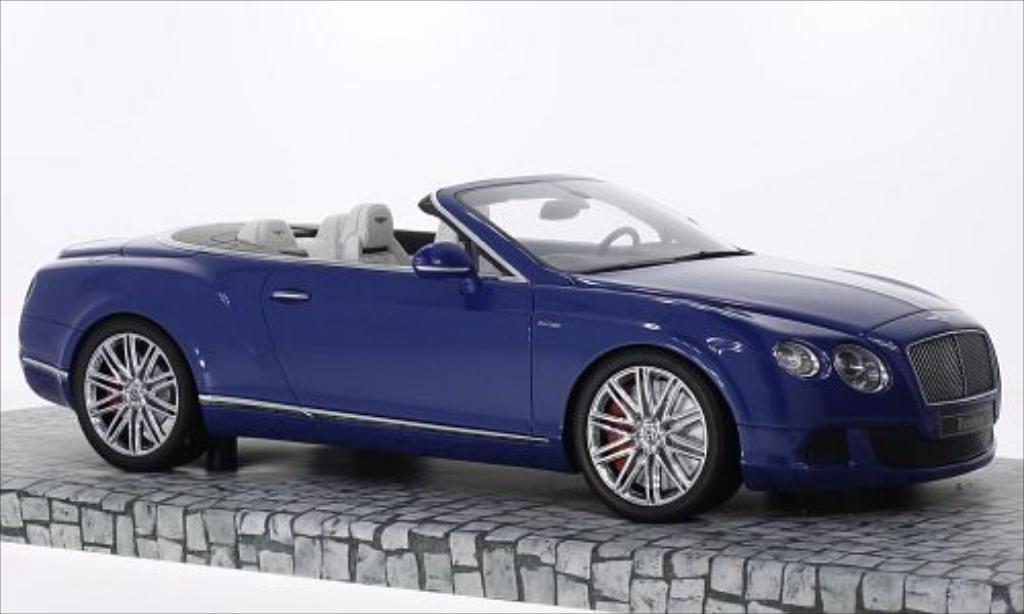 Bentley Continental GT 1/18 Minichamps Speed Convertible metallic-bleu 2013 miniature