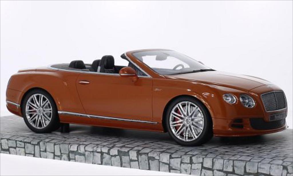 Bentley Continental GT 1/18 Minichamps Speed Convertible metallic-orange 2014 miniature