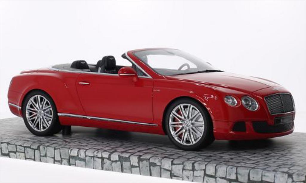 Bentley Continental GT 1/18 Minichamps Speed Convertible rouge 2013 miniature