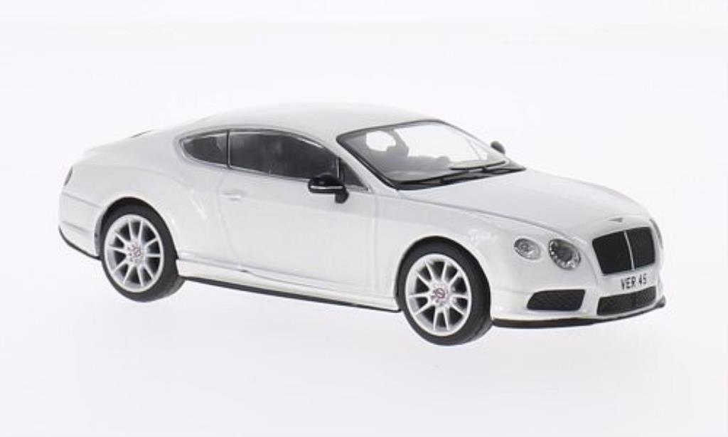 Bentley Continental GT 1/43 Corgi V8 S blanche LHD miniature