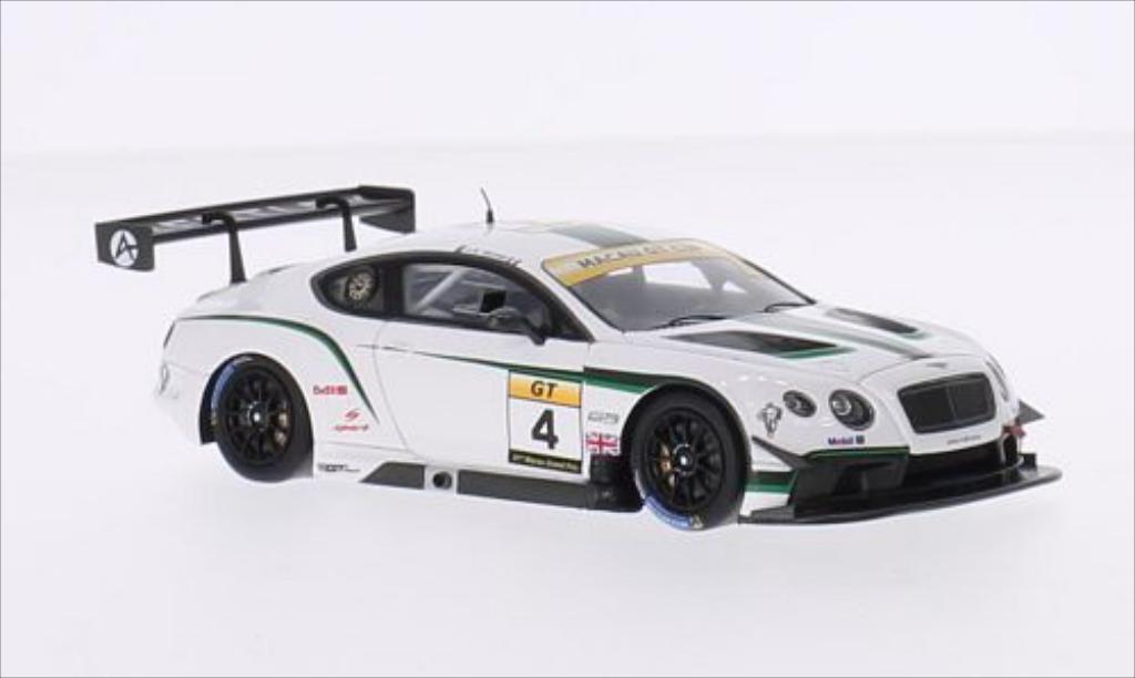 Bentley Continental 1/43 Spark GT3 RHD No.4 Absolute Racing GT Cup GP Macau 2014 miniature