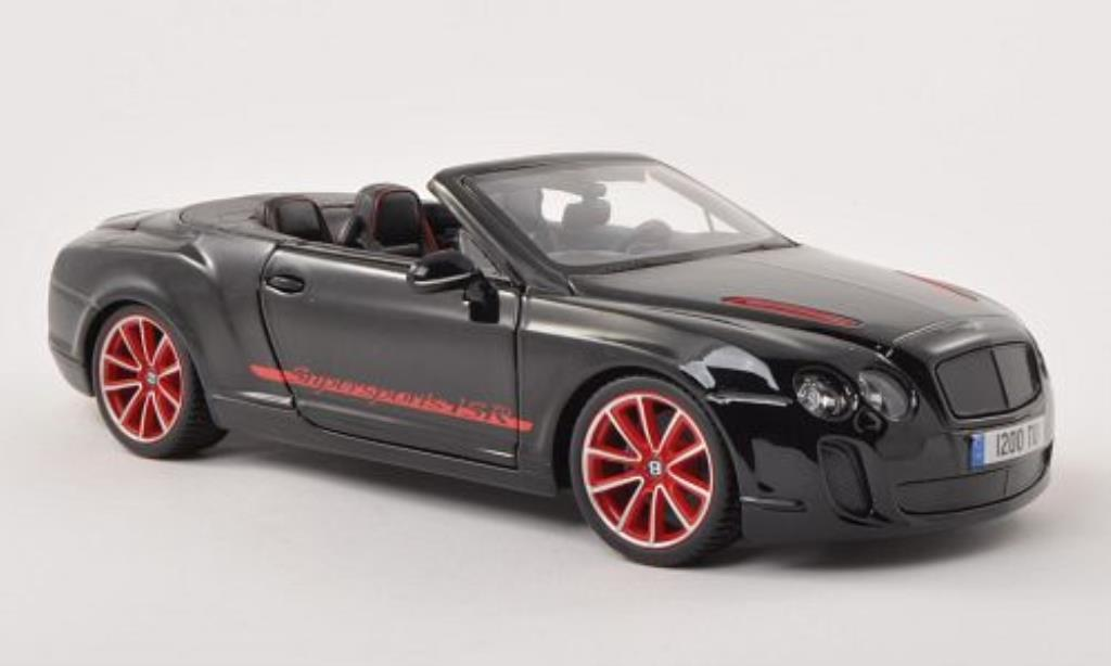 Bentley Continental Supersports 1/18 Burago Convertible ISR black diecast model cars