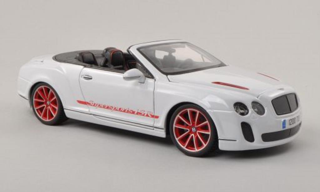 Bentley Continental Supersports 1/18 Burago Convertible ISR blanche miniature