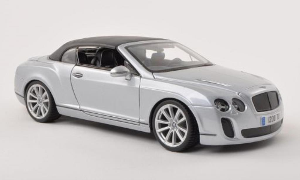 Bentley Continental Supersports 1/18 Burago Convertible grey-grey diecast model cars