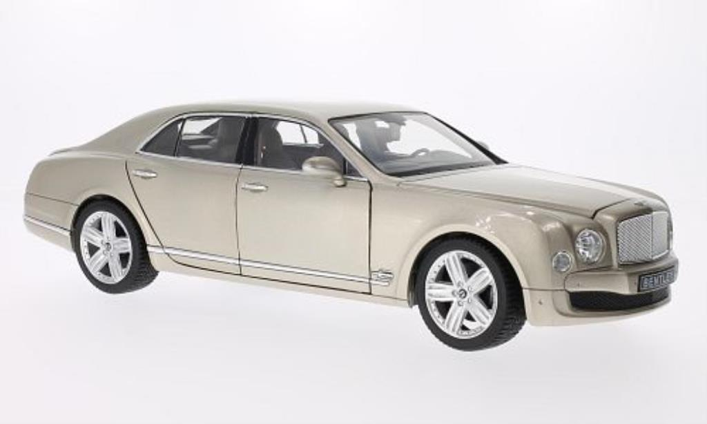 Bentley Mulsanne 1/18 Rastar beige LHD diecast model cars
