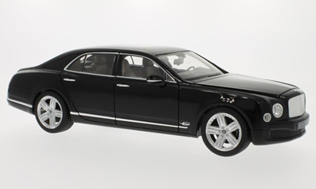 Bentley Mulsanne 1/18 Rastar black LHD diecast model cars