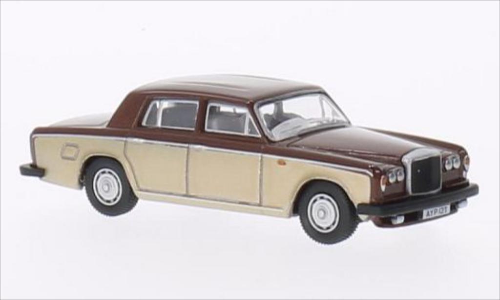 Bentley T2 1/76 Oxford Saloon marron/metallise beige RHD miniature