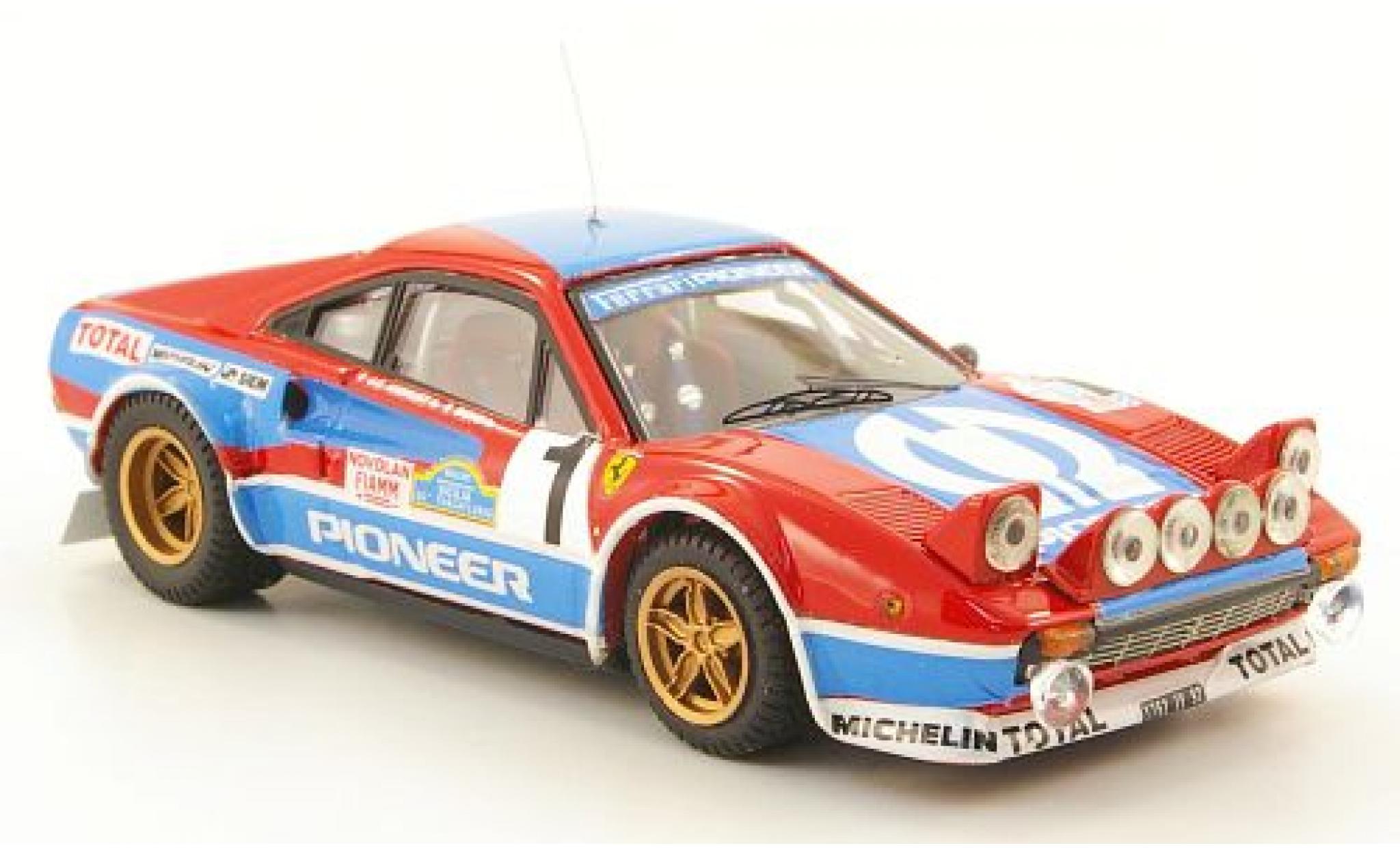 Ferrari 308 1/43 Best Gr.4 No.4 Pioneer Targa Florio 1982 J.C.Andreut/Biche