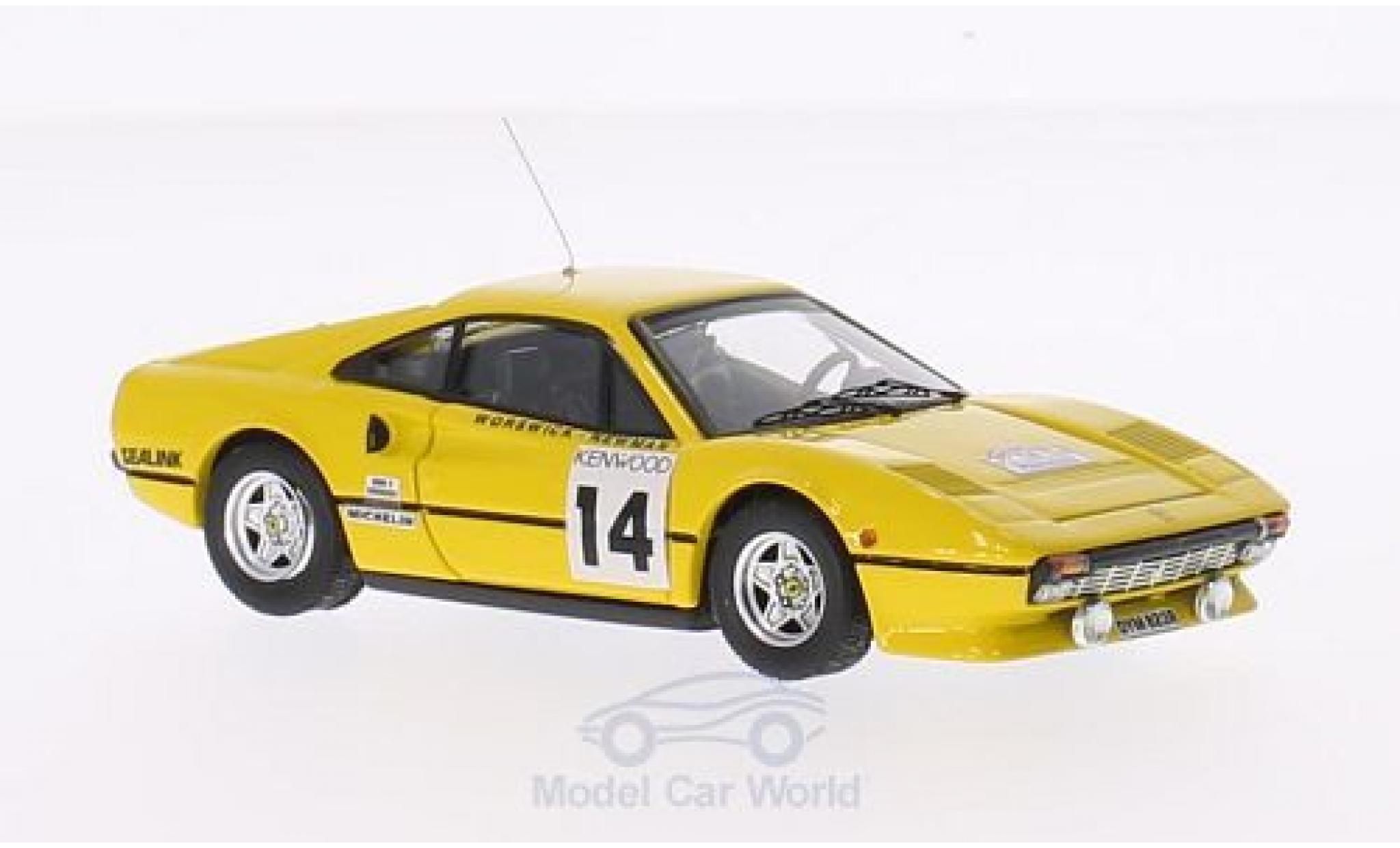 Ferrari 308 GTB 1/43 Best No.14 Tour de France 1985 T.Worswick/S.Newman