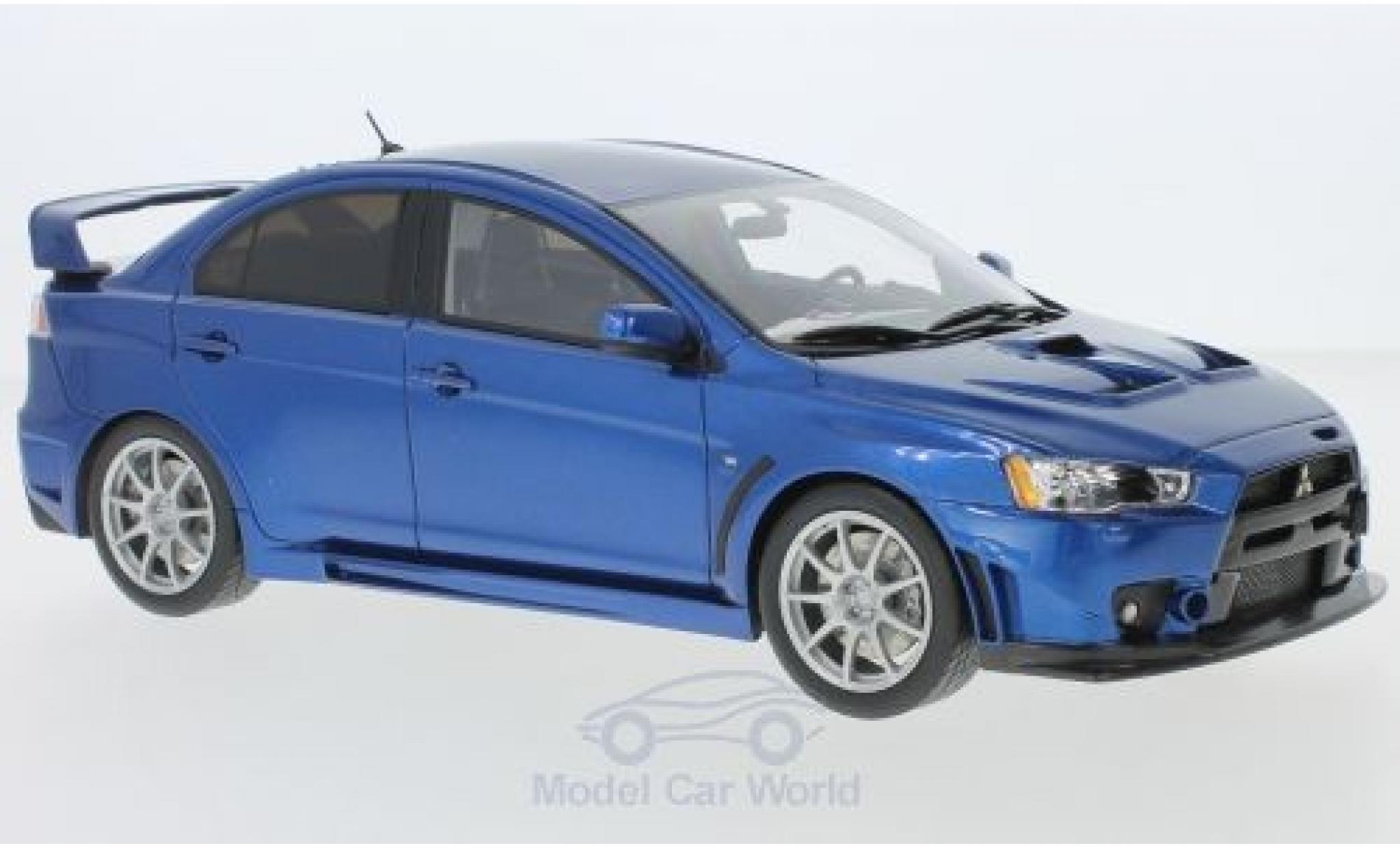 Mitsubishi Lancer 1/18 BM Creations Evolution X metallise bleue