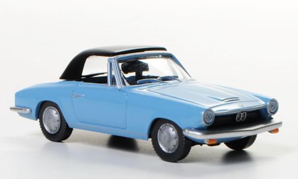 Bmw 1600 GT 1/87 Wiking Cabriolet bleu miniature