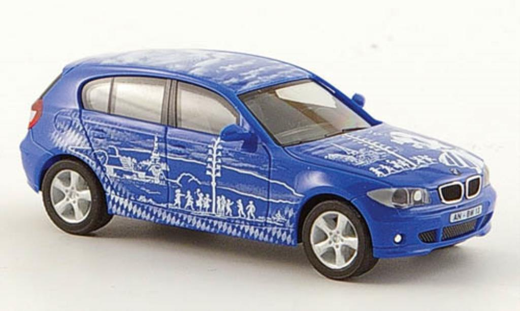 Bmw 114 E87 1/87 Herpa d bleue Bayern-Edition 2005 Schone Maienzeit miniature