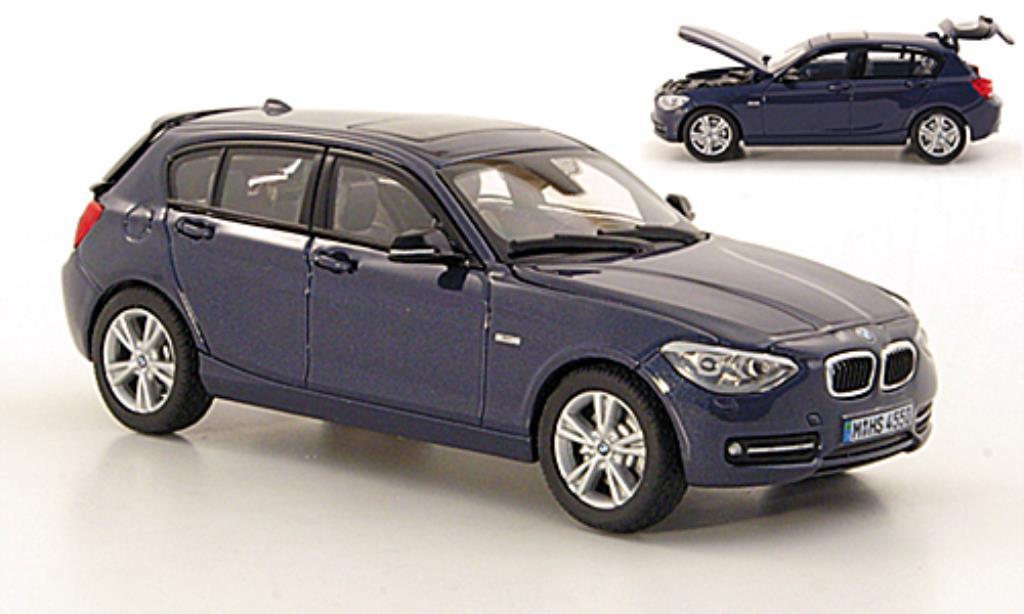 bmw 1er f20 blau 5 turer 2011 mcw modellauto 1 43 kaufen verkauf modellauto online. Black Bedroom Furniture Sets. Home Design Ideas
