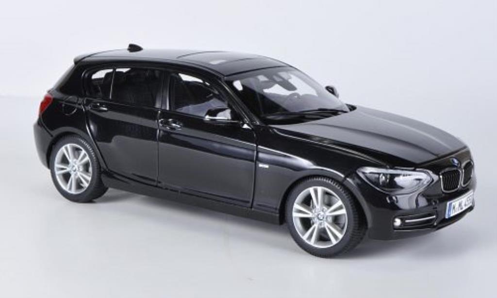 bmw 1er f20 schwarz 5 turer 2012 mcw modellauto 1 18 kaufen verkauf modellauto online. Black Bedroom Furniture Sets. Home Design Ideas