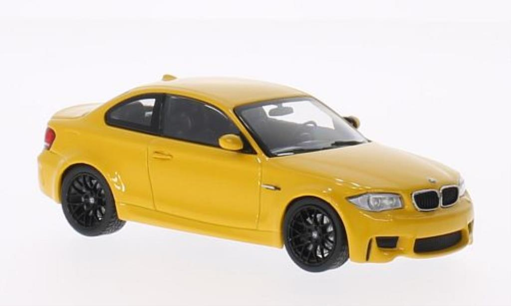 Bmw 1M 1/43 Minichamps Coupe yellow 2011 E82 diecast model cars