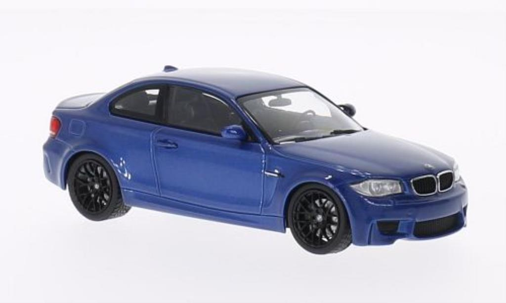 bmw 1m miniature m coupe e82 bleu 2011 minichamps 1 43 voiture. Black Bedroom Furniture Sets. Home Design Ideas