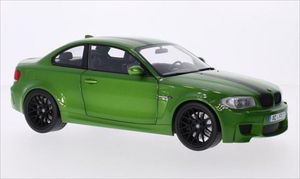 Bmw 1M 1/18 Minichamps Coupe metallic-verte/Dekor 2011 E82 miniature