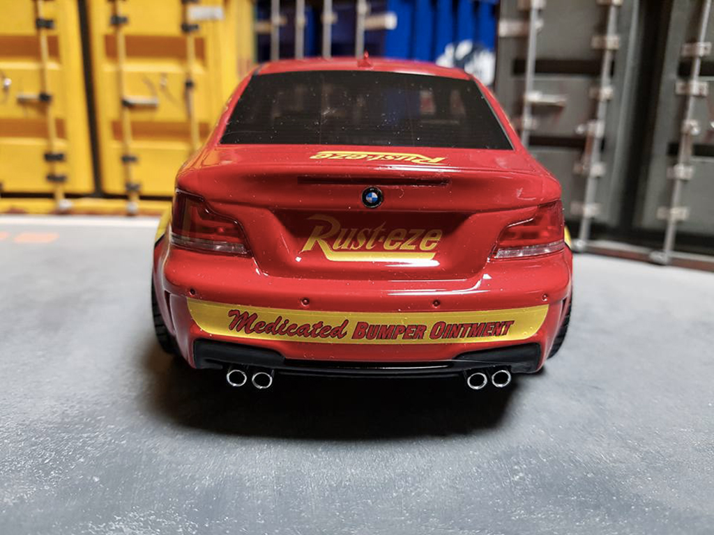 Bmw 1M Flash McQueen tuning GT Spirit. Bmw 1M Flash McQueen miniature auto miniature 1/18