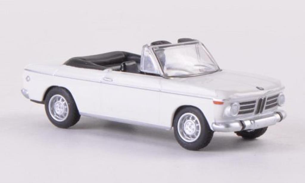Bmw 2002 1/87 Bub Cabrio blanca miniatura
