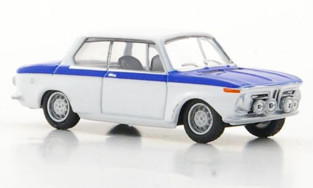 Bmw 2002 1/87 Bub Classic blanche/bleu miniature