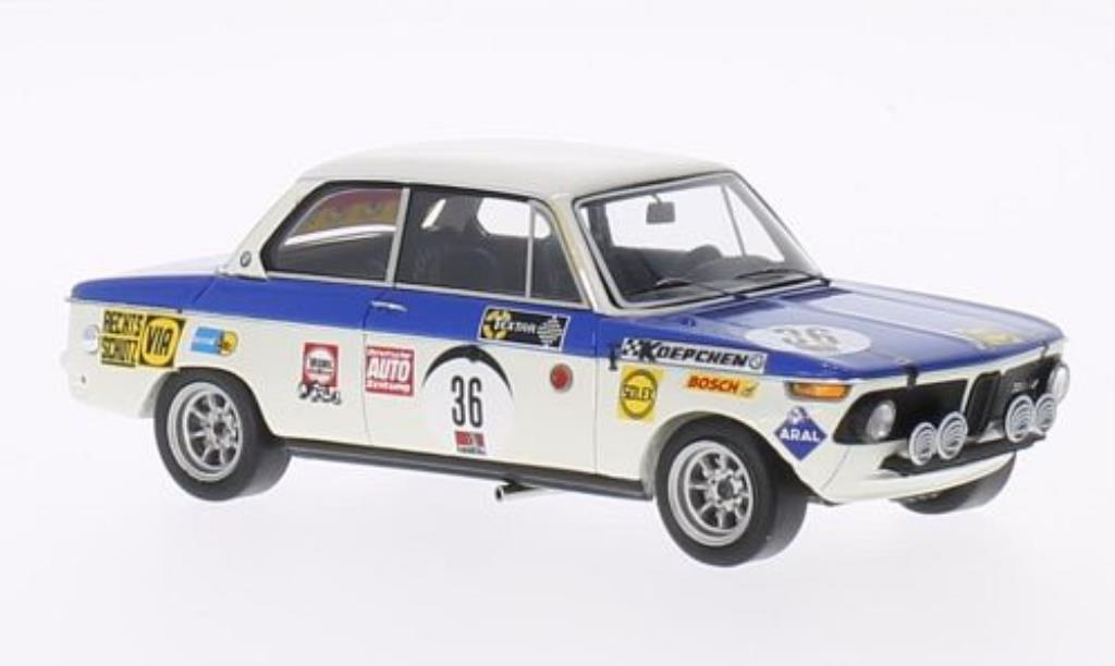 Bmw 2002 Ti 1/43 Minichamps No.36 24h Nurburgring 1970 miniature
