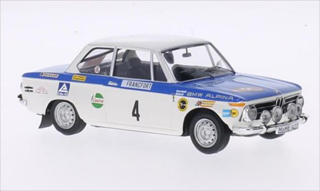 Bmw 2002 Ti 1/43 Trofeu No.4 Alpina Rallye Monte-Carlo 1971 /C.Mehmel miniature
