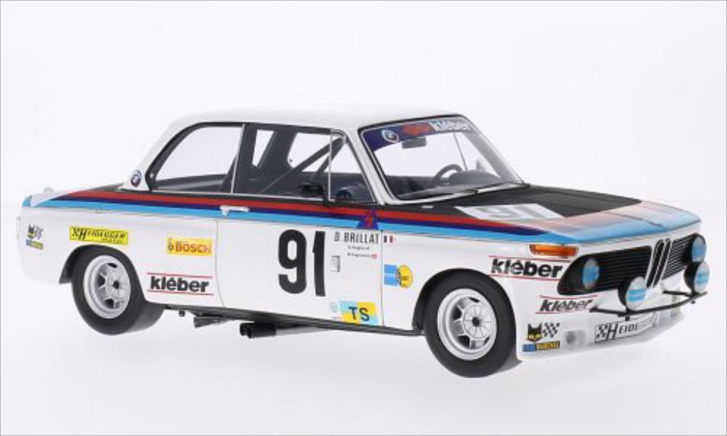 Bmw 2002 Ti 1/18 Spark No.91 Heiddeger Racing Team 24h Le Mans 1975 /M.Degoumois miniature
