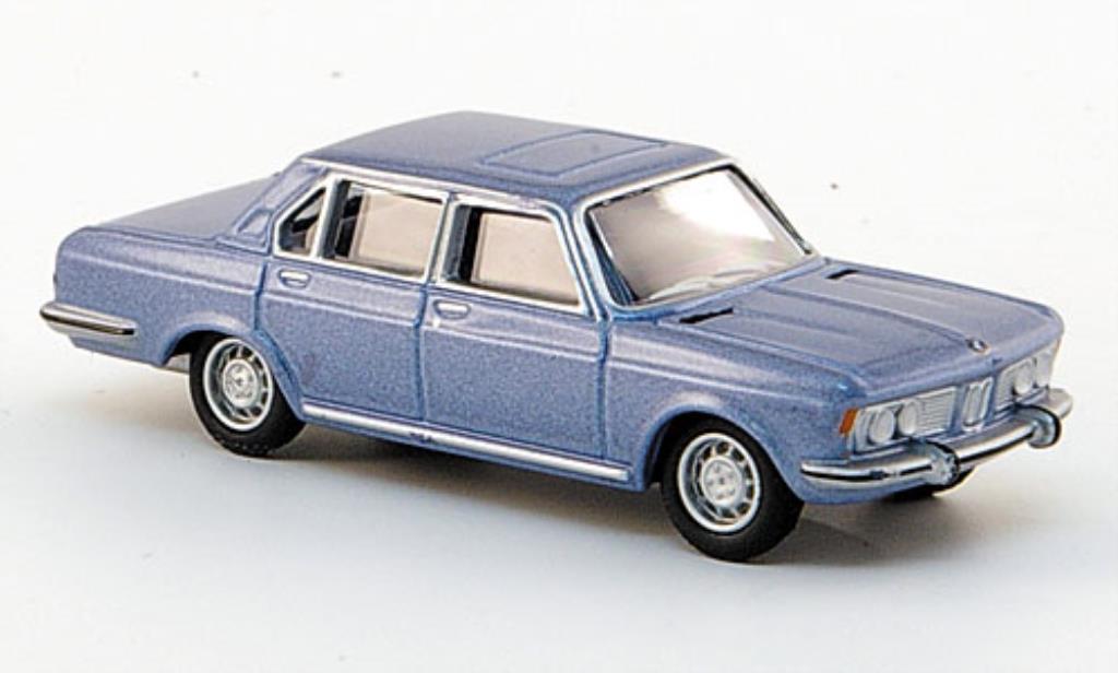 Bmw 2800 E3 1/87 Bub Limousine bleu miniature
