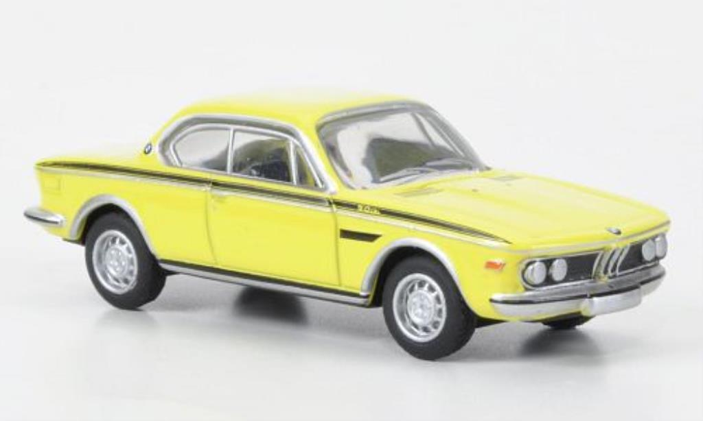 Bmw 3.0 CSL 1/87 Bub Coupe yellow diecast model cars