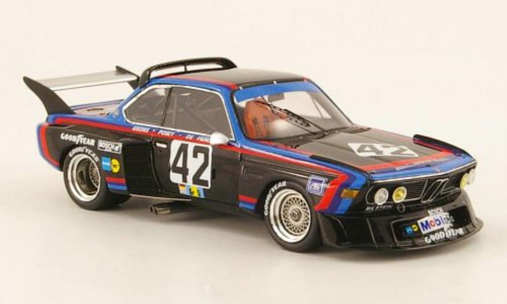 bmw 3 5 csl miniature alpina gitanes 24h le mans 1976 spark 1 43 voiture. Black Bedroom Furniture Sets. Home Design Ideas