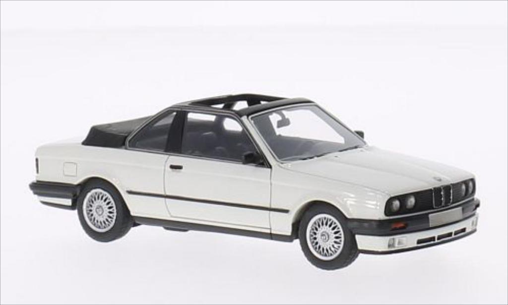 Bmw 318 E30 1/43 Neo i  Baur white 1986 diecast model cars