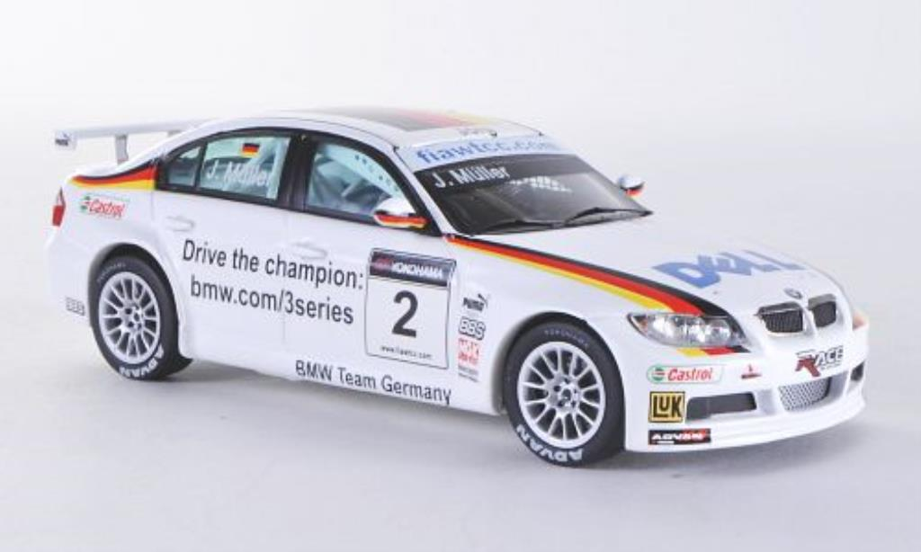 Bmw 320 WTCC 1/43 Spark Si No.2 Muller 2007 diecast model cars