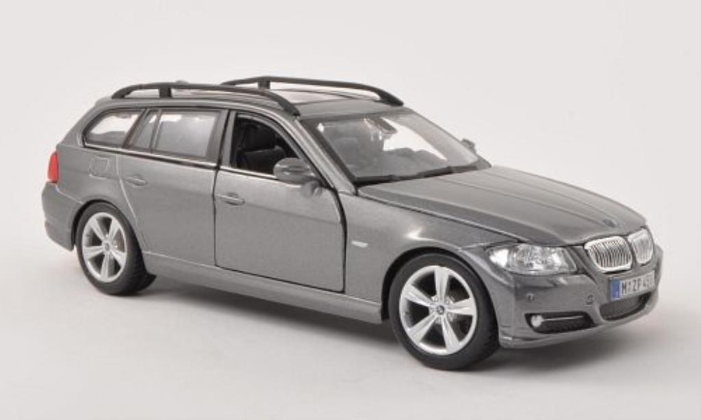 Bmw 335 E91 1/24 Burago  Touring grigio modellino in miniatura