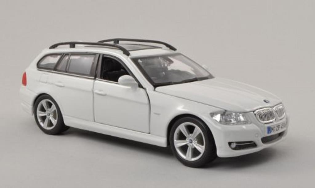 Bmw 330 E91 Miniature E91 Touring Blanche Burago 1 24