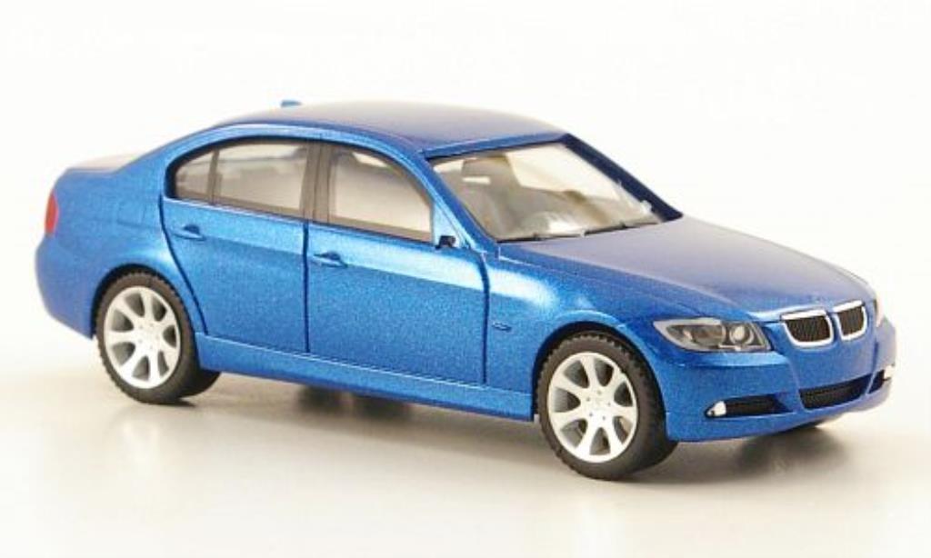 Bmw 335 E90 1/87 Herpa Limousine (E90) bleu 2005 miniature