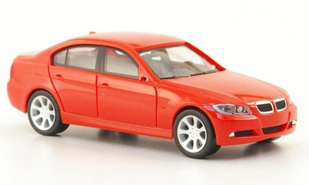 Bmw 330 E90 1/87 Herpa Limousine (E90) rouge 2005 miniature